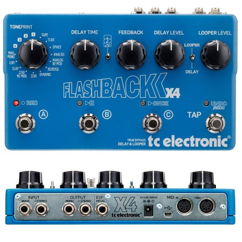 TC Electronic Flashback X4 Guitar Delay Effects Pedal by TC Electronic