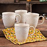 Cheap Charming Antique Style Farmhouse Lace Mug Set (LINEN)