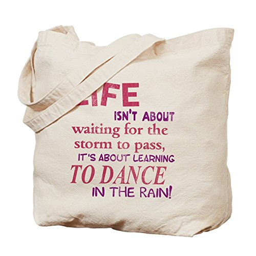 CafePress – Life Isn' t About Waiting For The Storm To Pass tot – Borsa di tela naturale, panno borsa per la spesa
