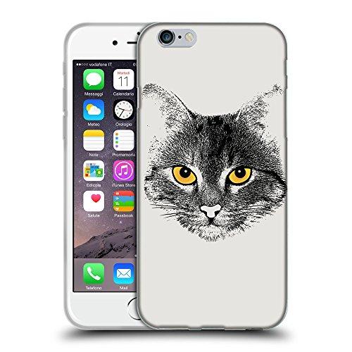 """GoGoMobile Coque de Protection TPU Silicone Case pour // Q07740631 Visage de chat 1 Platine // Apple iPhone 6 PLUS 5.5"""""""