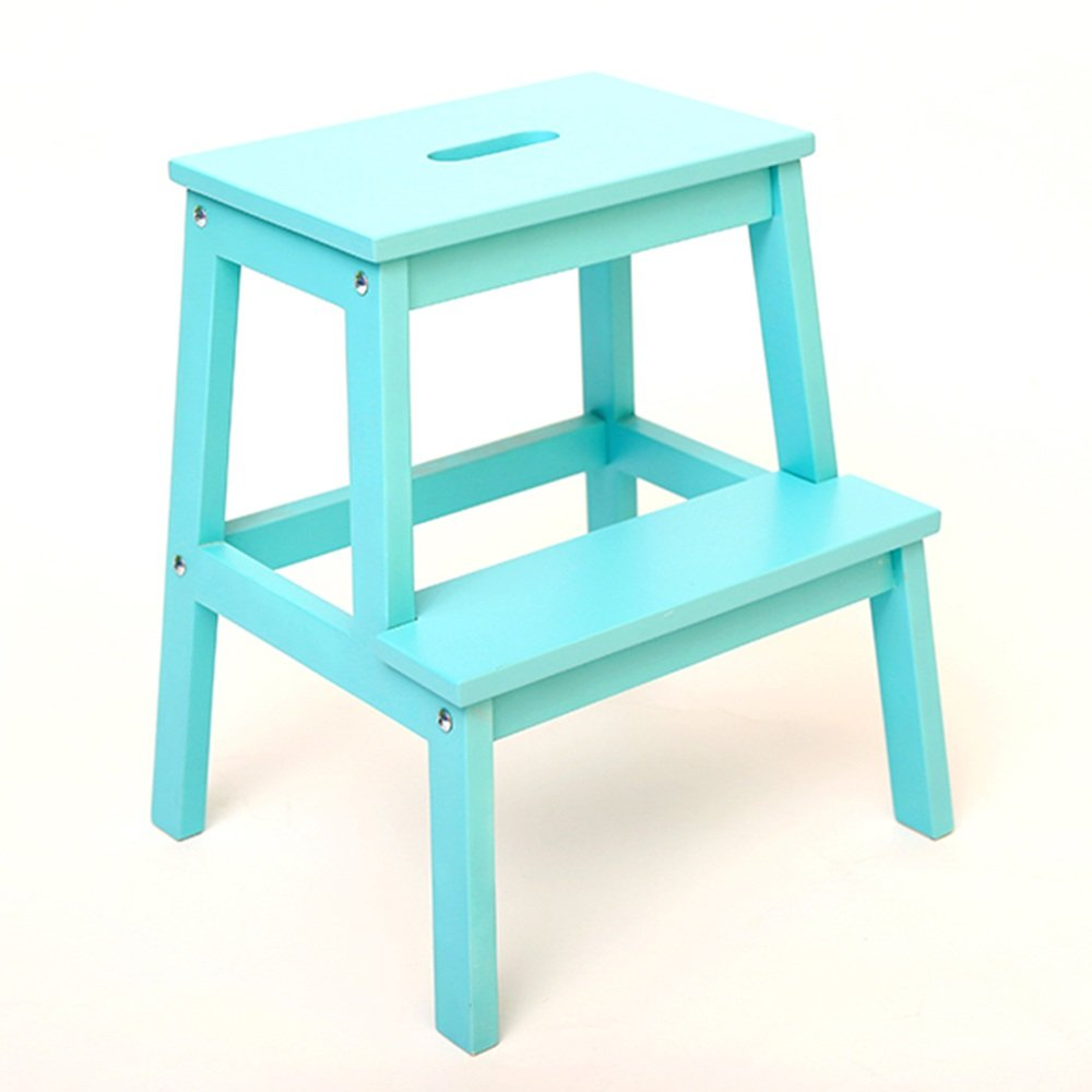 Amazon.com: QFFL tideng Step Stool Solid Wood Ladder Shoe Bench ...