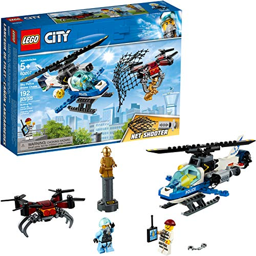 LEGO City Sky Police Drone Chase 60207 Building Kit, 2019 (192 Pieces)