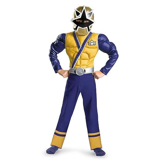 Sabanu0027S Power Rangers Samurai Gold Ranger Classic Muscle Costume Blue/Gold/Silver  sc 1 st  Amazon.com & Amazon.com: Sabanu0027S Power Rangers Samurai Gold Ranger Classic Muscle ...