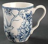 222 Fifth Adelaide Blue & White Coffee Mugs, Set of 4