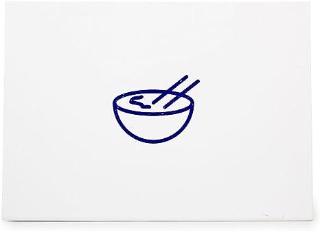 Fideos Ramen cocina alimentos cocina estilo 14241, sello de goma forma ideal para Scrapbooking, Manualidades, la creación de tarjetas, de estampado de manualidades: Amazon.es: Juguetes y juegos