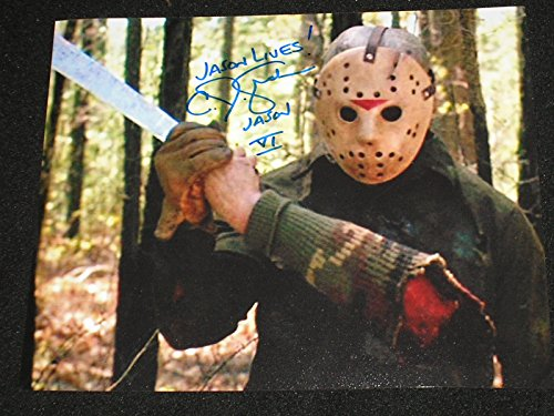 CJ GRAHAM Signed Jason Voorhees 8X10 Photo Friday the 13th Part 6 Autograph B
