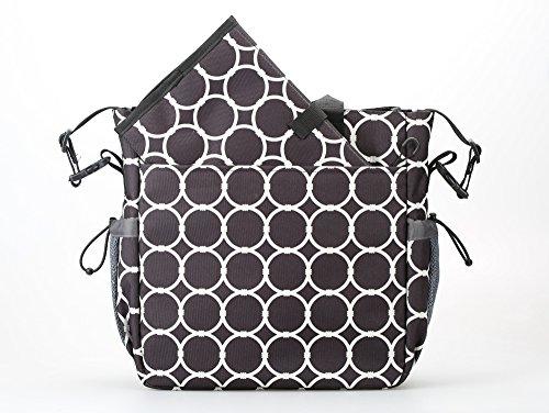 larsuyar 13bolsillos impermeable ligero tejido viajes bolsa de pañales para cochecito negro negro negro