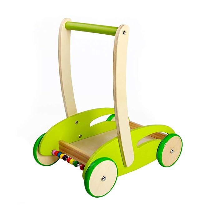 TOYANDONA - Carrito de madera multifunción para bebé, con ...