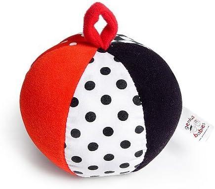 Pelota de Juguete para bebé, Color Negro, Blanco y Rojo: Amazon.es ...