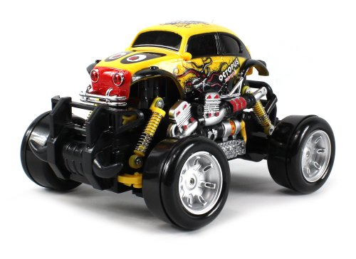 Graffiti Volkswagen Beetle Electric RC Drift Truck 1:18 Scale 4 Wheel Drive Ready To Run RTR, Working Spring Suspension, Perform Various Drifts (Colors May Vary) (Hpi Dodge Ram)