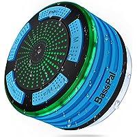 BassPal Shower Speaker Waterpoof IPX7, Portable Wireless Bluetooth Speakers with Radio