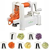 zucchini lasagna noodle maker - BloominGoods 5-Blade Stainless Steel Spiralizer: Heavy Duty, BPA FREE Vegetable Spiral Slicer   Ultimate Veggie Pasta & Spaghetti Maker   Perfect For Low Carb, Vegan, Paleo & Gluten-Free Meals