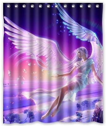Amazon.com: Outlet-Seller Custom Flying Angel Shower Curtain 60