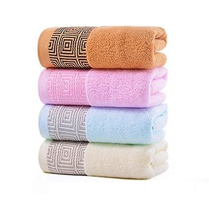 Bearony Suave Juego de 4 Toallas de baño con Forma de Toalla y toallitas cuadradas de