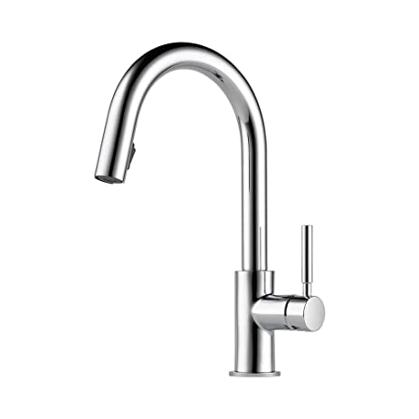 Brizo 63020LF PC Solna Kitchen Faucet With Pullout Spray, Chrome