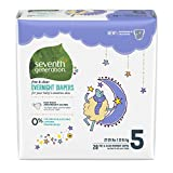 Seventh Generation Free & Clear Overnight Diapers, Size 5, 20 ct