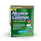 Good Sense Nicotine Polacrilex Lozenge 2mg, Mint Flavor, 72-count, Stop Smoking Aid, GoodSense Smoking Cessation Products