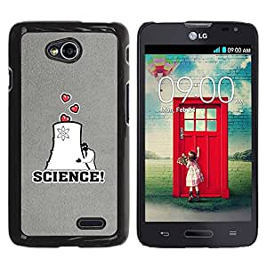 Paccase / SLIM PC / Aliminium Casa Carcasa Funda Case Cover - Love Scientist Nuclear Energy Heart - LG Optimus L70 / LS620 / D325 / MS323