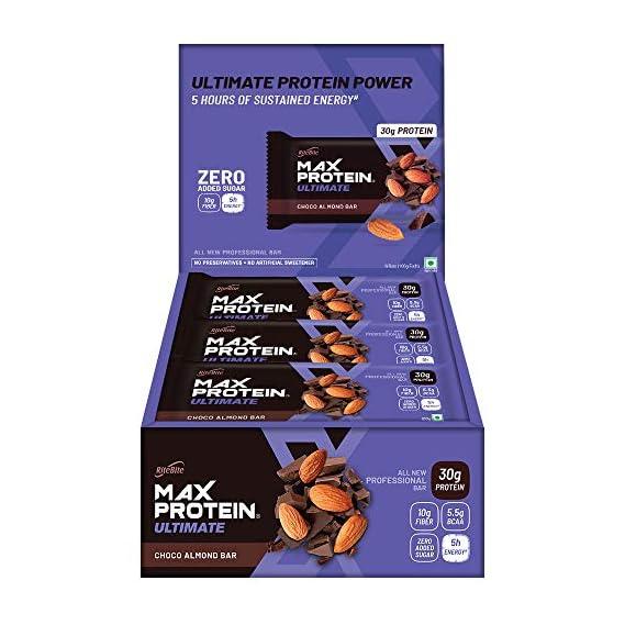 RiteBite Max Protein Ultimate Choco Almond Bars 1200g - Pack of 12 (100g x 12)