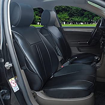 Amazon.com: N16102 Grey - Fabric 2 Front Car Seat Covers Compatible