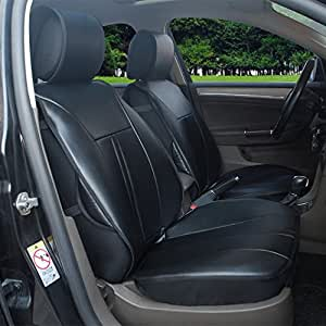 Amazon Com 180204s Black 2 Front Car Seat Cover Cushions