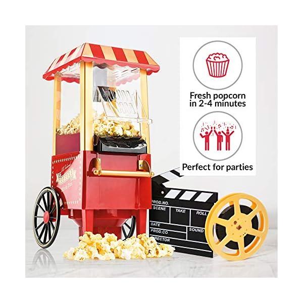 Gadgy Popcorn Machine - Retro Macchina Pop Corn Compatta, Aria Calda Senza Olio Grasso 3