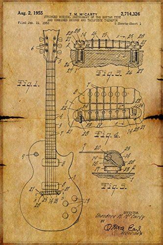 Gibson Les Paul Guitar Poster Guitar Patent