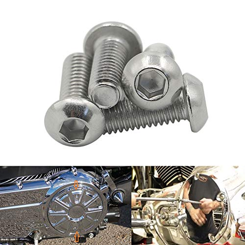 Motoparty Stainless Derby Cover Bolt Kit For Harley Davidson Big Twin Derby Cover Hardware Allen Bolt Kit -