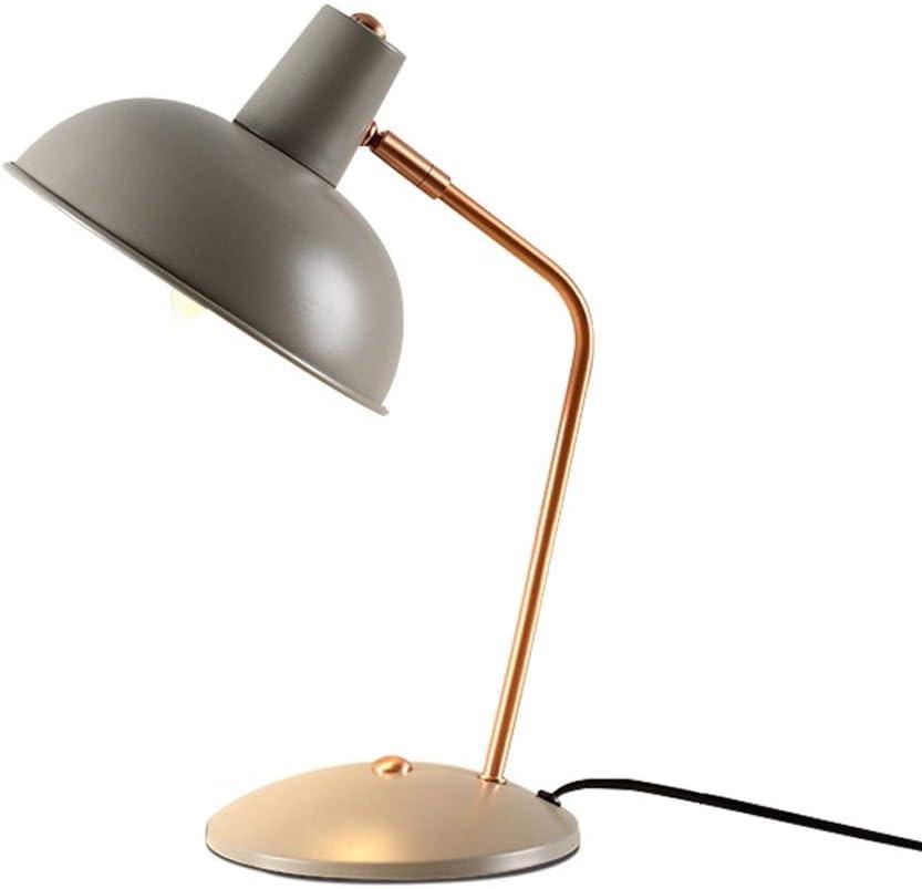 Aprendizaje Nordic Moderno Minimalista Mesita de Noche Lámpara de Salón Dormitorio Protección for los Ojos Lectura Aprendizaje Lámpara de Mesa de Hierro Forjado E14 Lámparas de Escritorio