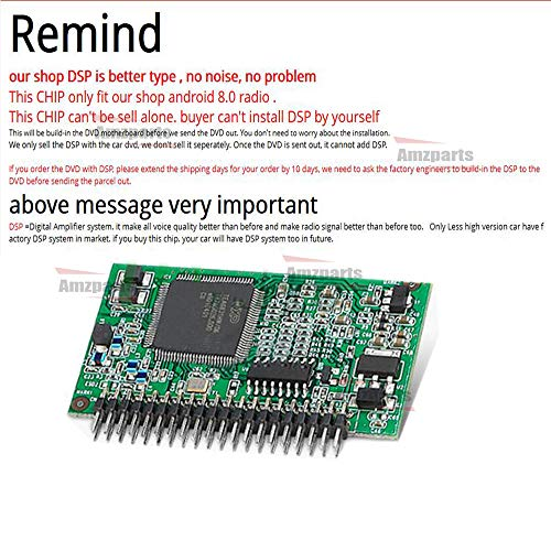 Amzparts DSP chip only for Android 8 0 radio stereo  install DSP to radio  motherboard, make voice better more than before