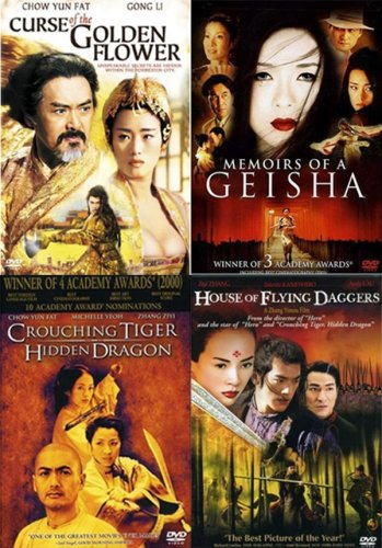 Asian Cinema 4-pack (Curse of the Golden Flower / Memoirs of a Geisha / Crouching Tiger Hidden Dragon / House of Flying Daggers)