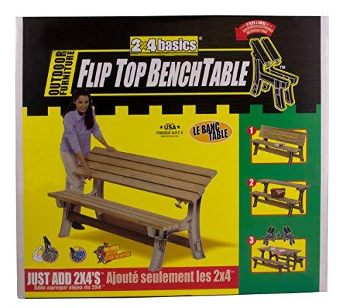 2x4basics 90110onlmi Custom Flip Top Bench To Table Sand