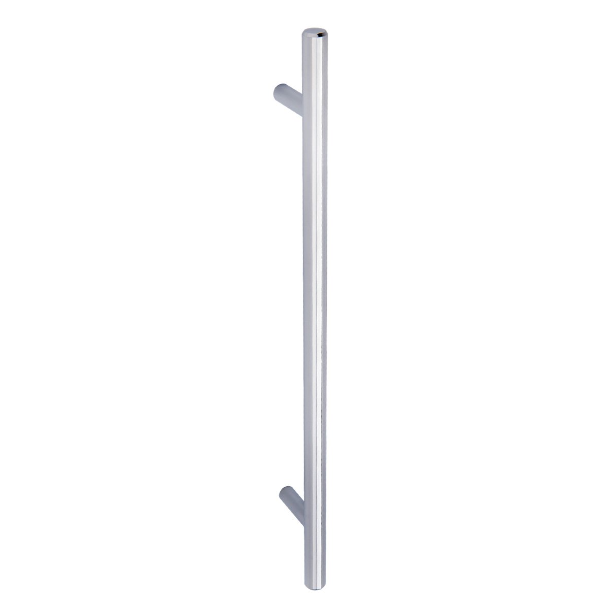 9,52 mm de di/ámetro 18,75 cm de longitud orificio central de 12,7 cm Tirador de armario en forma de barra Basics tipo europeo cromo pulido paquete de 25