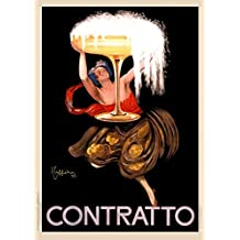 Contratto-Asti-Champagne-Leonetto-Cappiello-1922-Italy-Vintage-Advertising-Poster Vintage Tin Sign Advertising