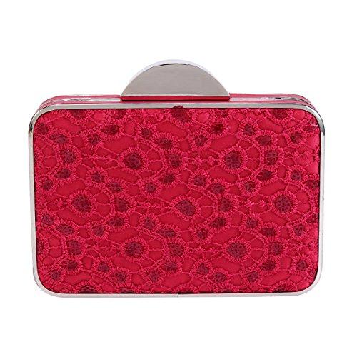 Womens Embroidered Damara Sequins Red Evening Graceful Clutch Bag UZZqEdwn