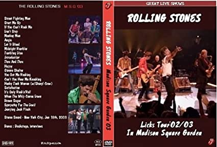 Amazon rolling stones live licks tour 2003 madison square rolling stones live licks tour 2003 madison square garden vhs workwithnaturefo