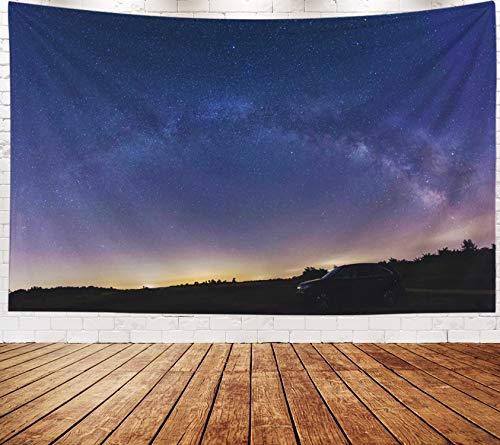 Asdecmoly Boho Wall Decor, Tapestry Wall Hanging Living Room Bedroom 80 Lx60 W Inches Stunning Milky Way Panorama Art Printing Inhouse - Milky Way Panorama