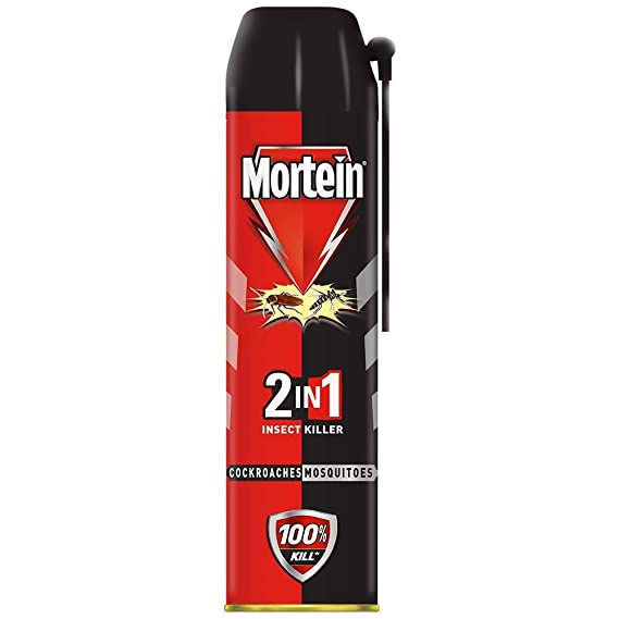 Mortein 2-in-1 Mosquito and Cockroach killer Spray with lemon fragrance - 600 ml   100% Kill Guarantee