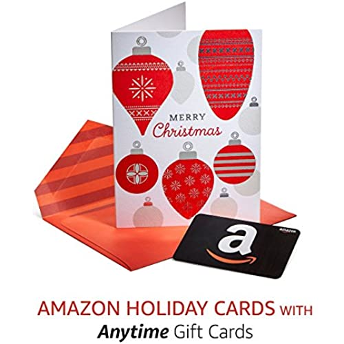 Amazon Premium Holiday Greeting Cards with Anytime Gift Cards, Pack of 3 Sales