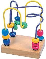 Bino Lupilo, motorikrosett för barn från 1 år (barnleksaker för att främja hand-ögon-koordination och finmotorik, perfekt för resor och som barnrumstillbehör), flerfärgad