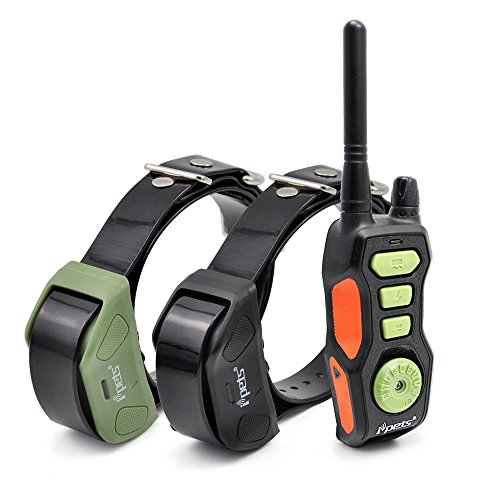 Ipets PET618-2 Dog Shock Collar 2600ft Remote Controlled Collar 100% Waterproof & Rechargeable Dog Training Collar with Beep Vibrating Electric Collar for Dogs ¡­ by Ipets