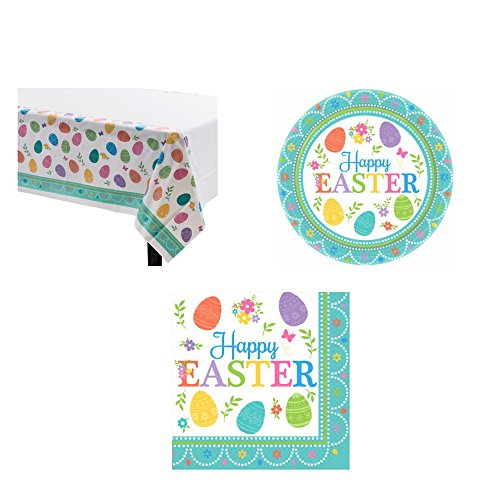 Lovely Easter Table Value Pack (1 Table Cover, 16 Beverage Napkins, 8 7