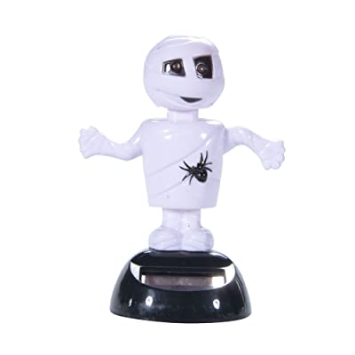 Ainest 1PCS solaire Powered Dancing Halloween D¨¦coration - Mummy Blanc