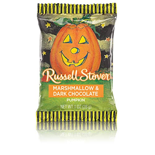 Russell Stover Dark Chocolate, Marshmallow Pumpkins, 1 Ounce, 36 Count