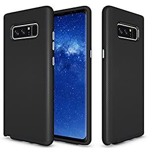Galaxy Note 8 Case, Asstar Durable Slim Flexible Dual Layer [Soft TPU+Hard PC] Impact Resistant Shockproof Rugged Full Body Protective Cover for Samsung Galaxy Note 8 (Black)