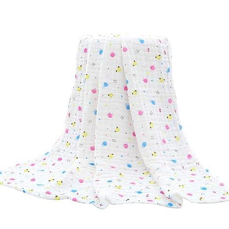OUNONA - Mantas de Gasa para bebé recién Nacido, Suaves Toallas de baño de algodón