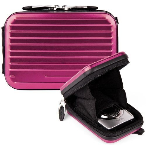 VanGoddy Pascal Case - PURPLE PLUM Tough Compact - Nikon S02 Case
