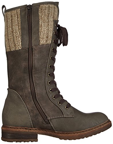 womens grey boot Rieker graphit brown Grey Brown Graphit long 4Xwwd
