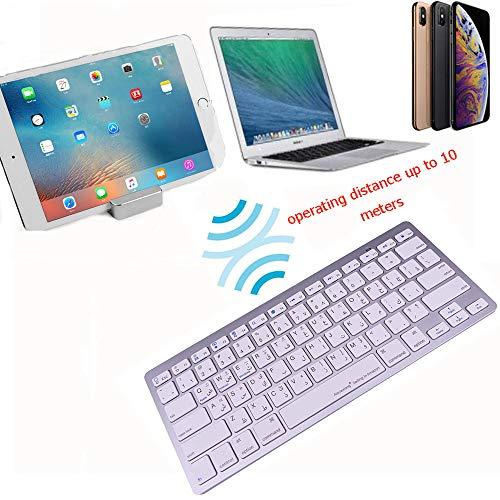 LiXiongBao Arabic Language Wireless Bluetooth Functional Shortcuts Keyboard for Apple iPhone X XS XS Max XR iMac Mackbook Pro Surface 4 5 6 7 (Keyboard Ipad Arabic)