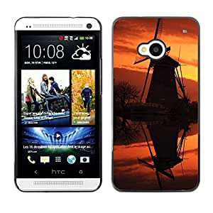 "For HTC One ( M7 ) , S-type Sunset Beautiful Nature 92"" - Arte & diseño plástico duro Fundas Cover Cubre Hard Case Cover"